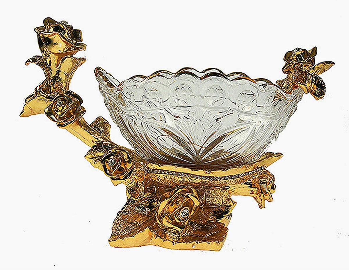 Конфетница Русские Подарки Версаль, 13 х 30 х 21 см48918Конфетница Русские Подарки Версаль, выполненная из стекла и полистоуна, предназначена для подачи сладостей (конфет, сахара, меда и многого другого). Она придает легкость, воздушность сервировке стола и создаст особую атмосферу праздника.