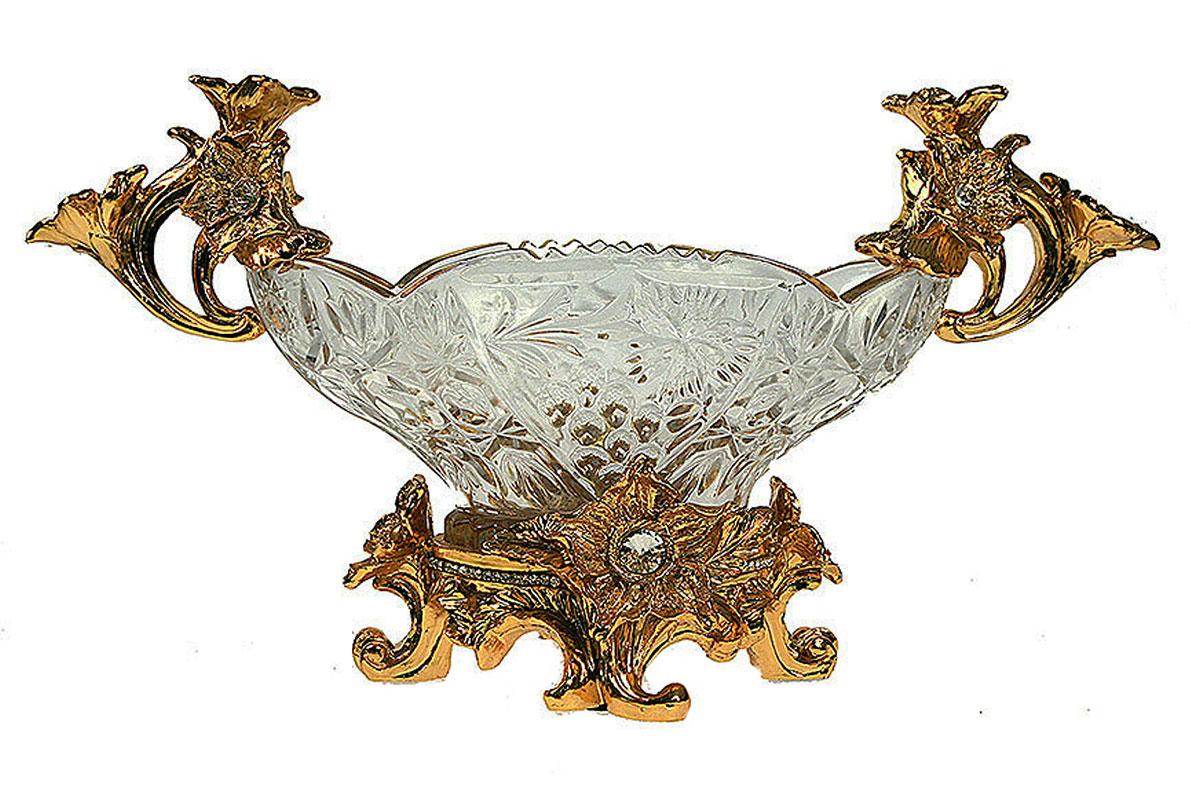Фруктовница Русские Подарки Версаль, 16 х 42 х 24 см. 48919 ваза русские подарки винтаж высота 31 см 123710