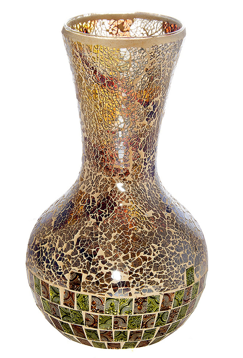 Ваза Русские Подарки Мозаика, высота 35 см. 86733 ваза русские подарки винтаж высота 31 см 123710