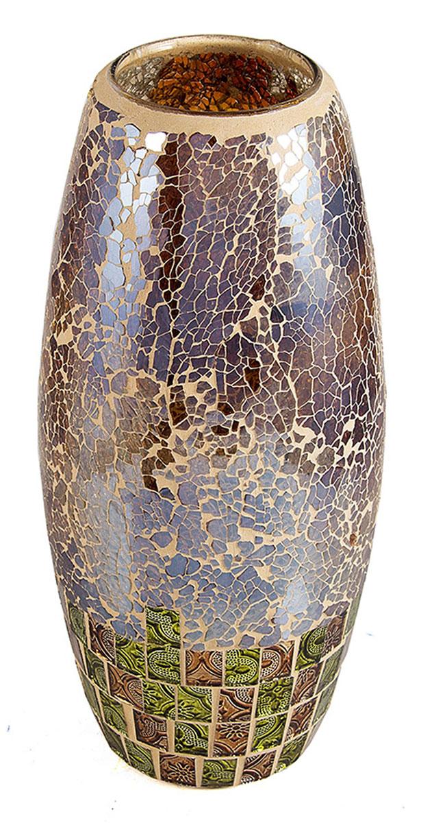 Ваза Русские Подарки Мозаика, высота 30 см. 8673486734Ваза Русские Подарки, выполненная из стекла, украсит интерьер вашего дома или офиса. Оригинальный дизайн и красочное исполнение создадут праздничное настроение.Такая ваза подойдет и для цветов, и для декора интерьера. Кроме того - это отличный вариант подарка для ваших близких и друзей.Правила ухода: мыть теплой водой с применением нейтральных моющих средств.