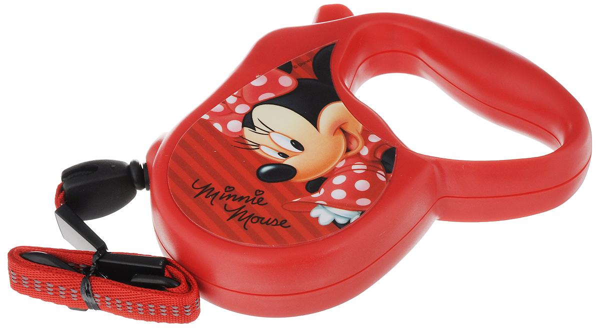 Поводок-рулетка Triol Disney. Minnie, для собак до 12 кг, цвет: красный, 3 м поводок рулетка triol disney minnie для собак до 12 кг цвет красный 3 м