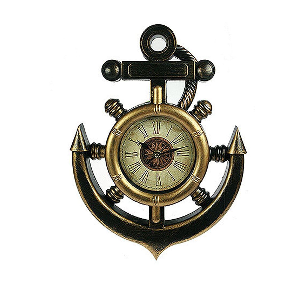 Часы настенные Русские Подарки Якорь, 28 х 39 см. 222435222435Настенные кварцевые часы Русские Подарки Якорь изготовлены из пластика. Корпус оригинально оформлен в виде якоря. Циферблат защищен стеклом. Часы имеют три стрелки - часовую, минутную и секундную. С обратной стороны имеетсяпетелька для подвешивания на стену. Такие часы красиво и необычно оформят интерьер дома или офиса. Также часы могут стать уникальным, полезным подарком для родственников, коллег, знакомых и близких.Часы работают от батареек типа АА (в комплект не входят).