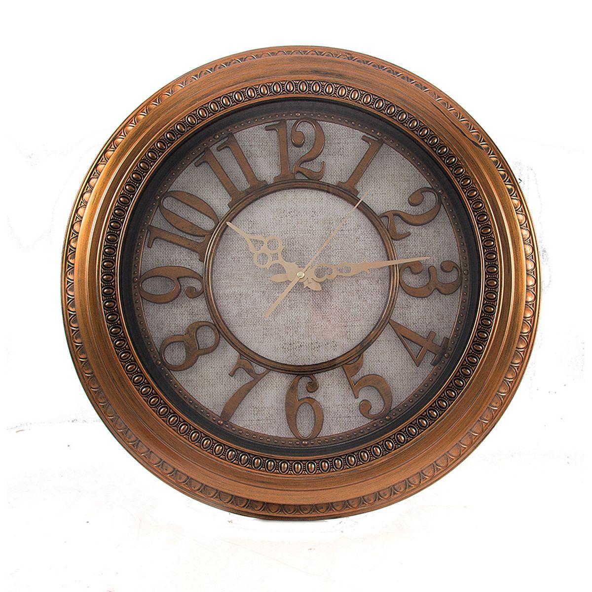Часы настенные Русские Подарки, цвет: бронзовый, диаметр 53 см. 222438 ваза русские подарки винтаж высота 31 см 123710