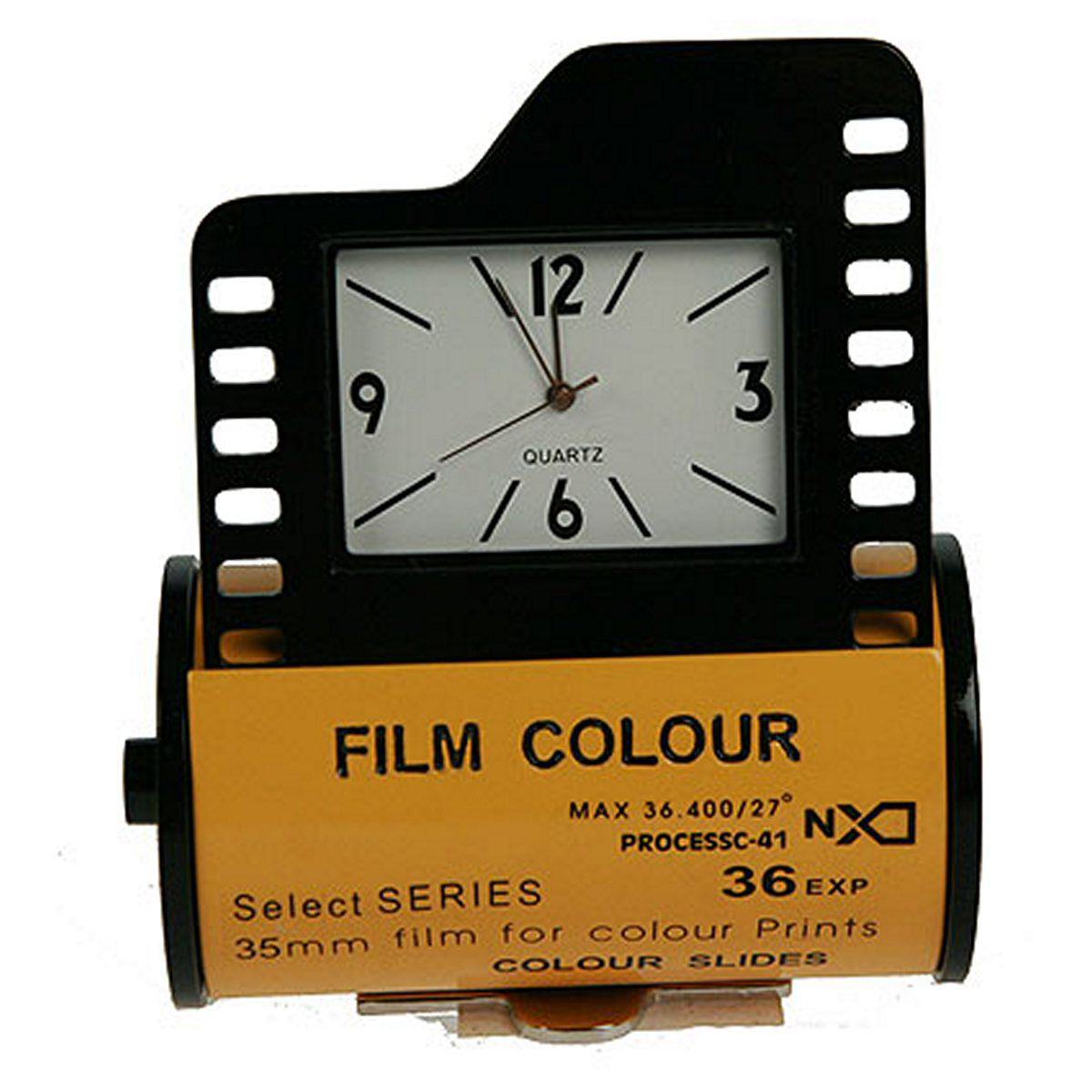 Часы настольные Русские Подарки Фотопленка, 6 х 2 х 7 см. 2241122411Настольные часы Русские подарки Фотопленка - очень оригинальные и стильные настольные часы. Корпус выполнен из металла. Они прекрасно впишутся практически в любой интерьер и станут превосходным украшением вашей комнаты. Это красивый и практичный подарок на любое торжество для родных и близких.