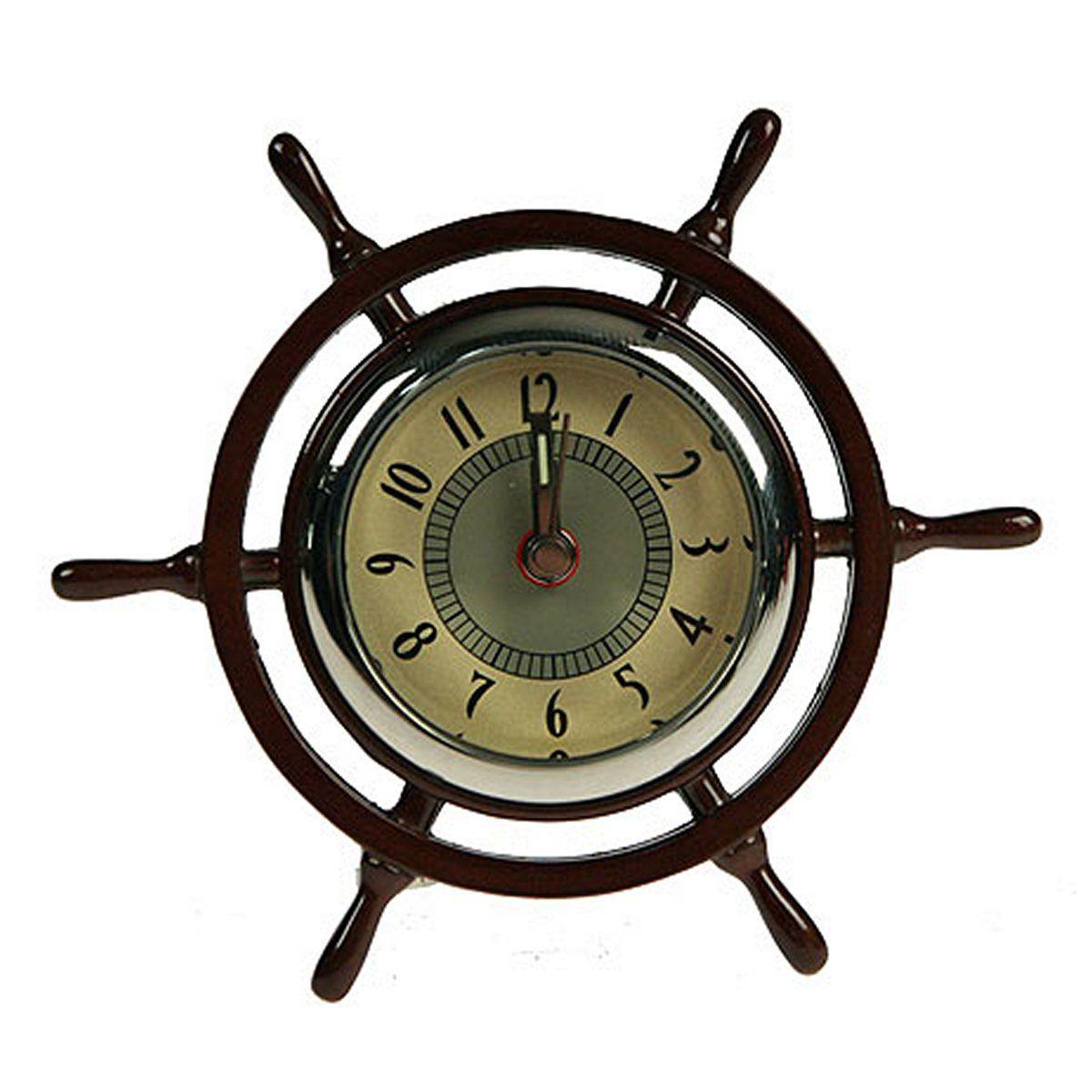Часы настольные Русские Подарки Штурвал, 4 х 4 х 7 см. 22416 статуэтка русские подарки мисс рандеву 11 х 10 х 31 см