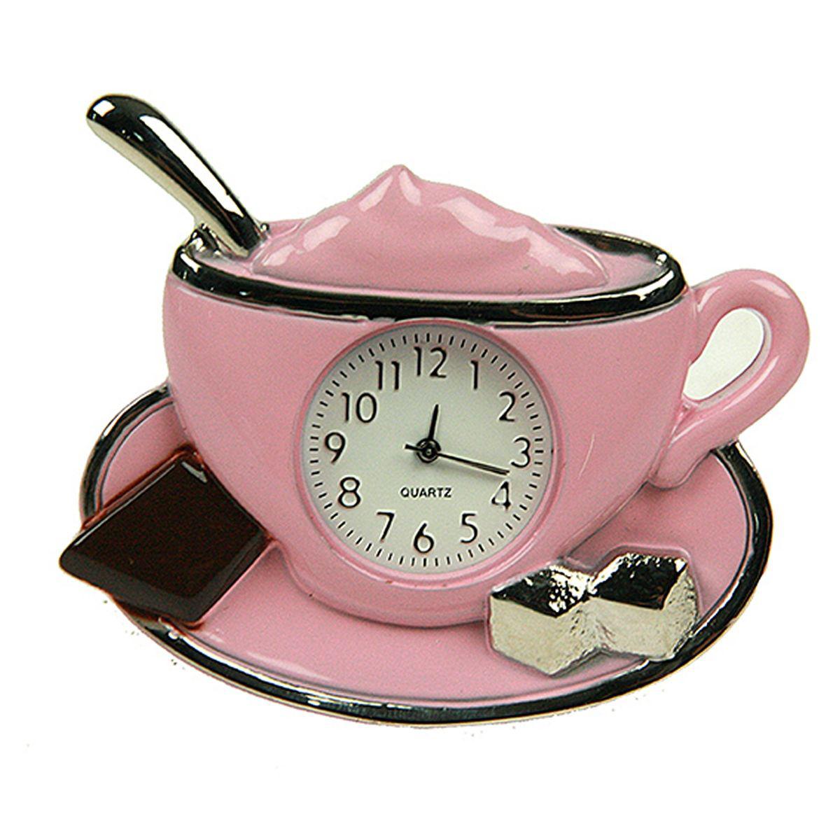 Часы настольные Русские Подарки Капучино. 2243622436Настольные кварцевые часы Русские Подарки Капучино изготовлены из металла. Корпус оригинально оформлен в виде чашечки кофе. Часы имеют три стрелки - часовую, минутную и секундную. Изящные часы украсят интерьер дома или рабочий стол в офисе. Также часы могут стать уникальным, полезным подарком для родственников, коллег, знакомых и близких. Часы работают от батареек типа SR626 (в комплект не входят).