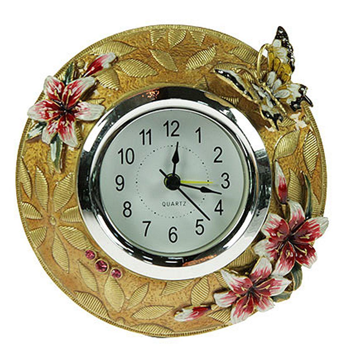 Часы настольные Русские Подарки Золотая пора, 14 х 14 х 8 см. 224805224805Настольные часы Русские подарки Золотая пора - очень оригинальные и стильные настольные часы. Корпус выполнен из полистоуна. Они прекрасно впишутся практически в любой интерьер и станут превосходным украшением вашей комнаты. Это красивый и практичный подарок на любое торжество для родных и близких.