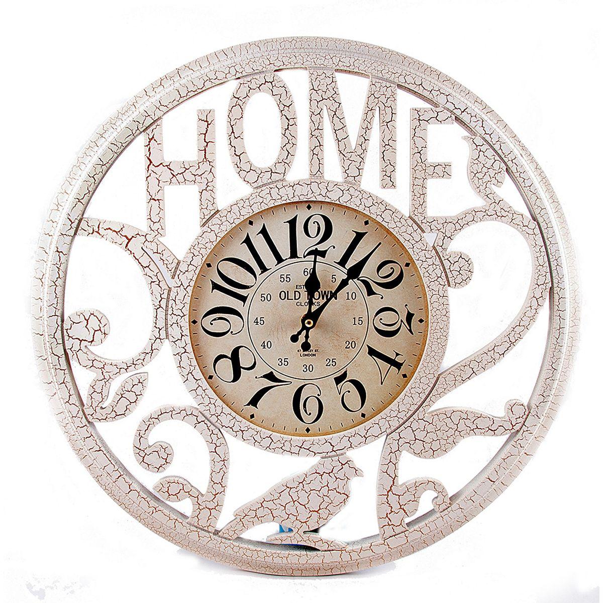Часы настенные Русские Подарки, 50 х 50 х 5 см. 2962429624Настенные кварцевые часы Русские Подарки изготовлены из МДФ. Корпус оформлен узорами и надписью Home. Часы имеют две стрелки - часовую и минутную. С обратной стороны имеется петелька для подвешивания на стену. Изящные часы красиво и оригинально оформят интерьер дома или офиса. Также часы могут стать уникальным, полезным подарком для родственников, коллег, знакомых и близких. Часы работают от батареек типа АА (в комплект не входят).