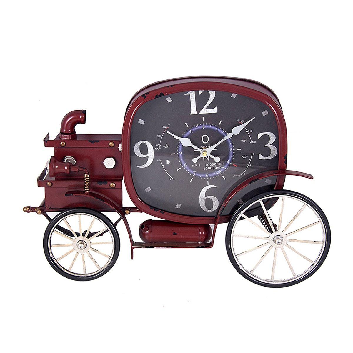 Часы настенные Русские Подарки Ретро-авто, цвет: бордо, 50 х 43 х 36 см. 2963329633Настенные часы Русские Подарки Ретро-авто станут изюминкой в дизайне интерьера вашегодома. Часы имеют две стрелки - часовую и минутную. Предусмотрено отверстие для крепления настену. Размер часов: 50 х 43 х 36 см.