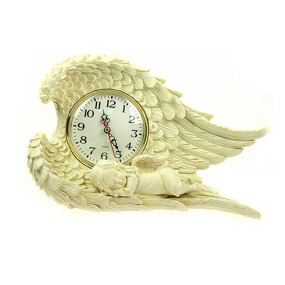 Часы настольные Русские Подарки Ангелочек, 31 х 20 х 10 см. 3641736417Настольные кварцевые часы Русские Подарки Ангелочек изготовлены из полистоуна, циферблат защищен стеклом. Часы имеют три стрелки - часовую, минутную и секундную. Изящные часы красиво и оригинально оформят интерьер дома или рабочий стол в офисе. Также часы могут стать уникальным, полезным подарком для родственников, коллег, знакомых и близких.