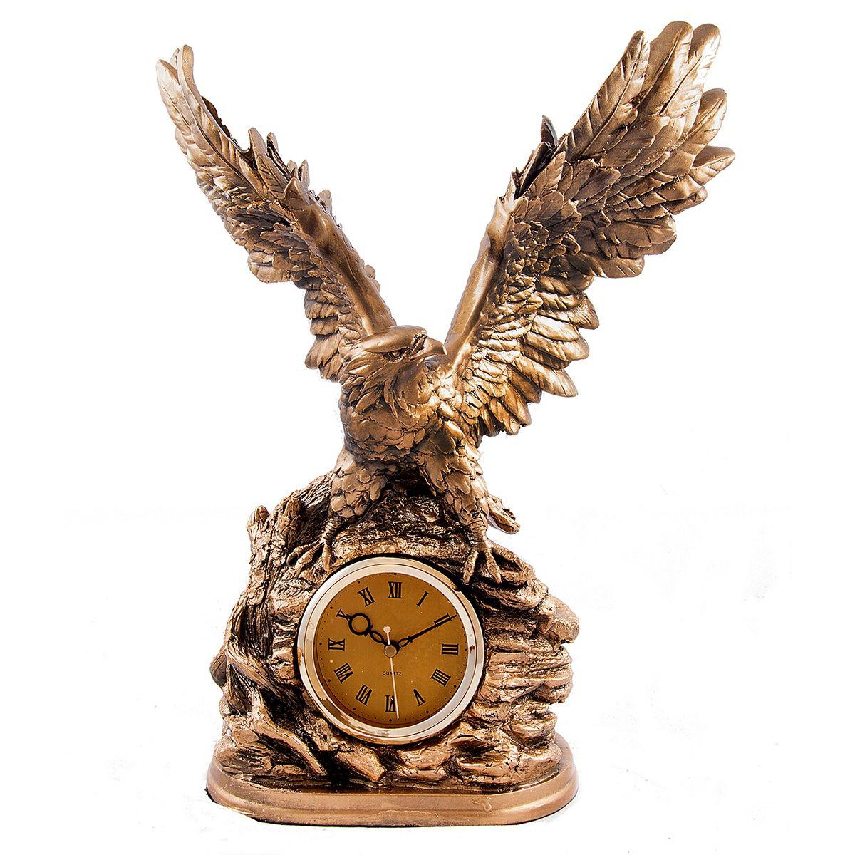 Часы настольные Русские Подарки Орел, 34 х 21 х 43 см. 59325