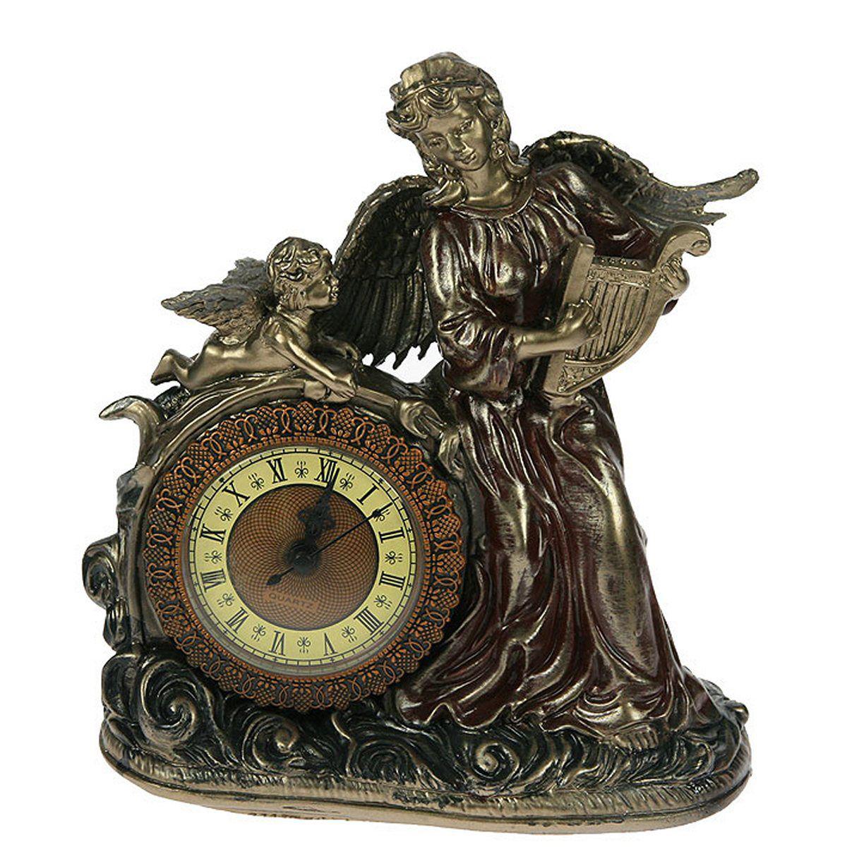 Часы настольные Русские Подарки Муза, 21 х 9 х 23 см. 59343 часы настольные русские подарки brigant с ручкой 27 х 13 х 8 см 28152