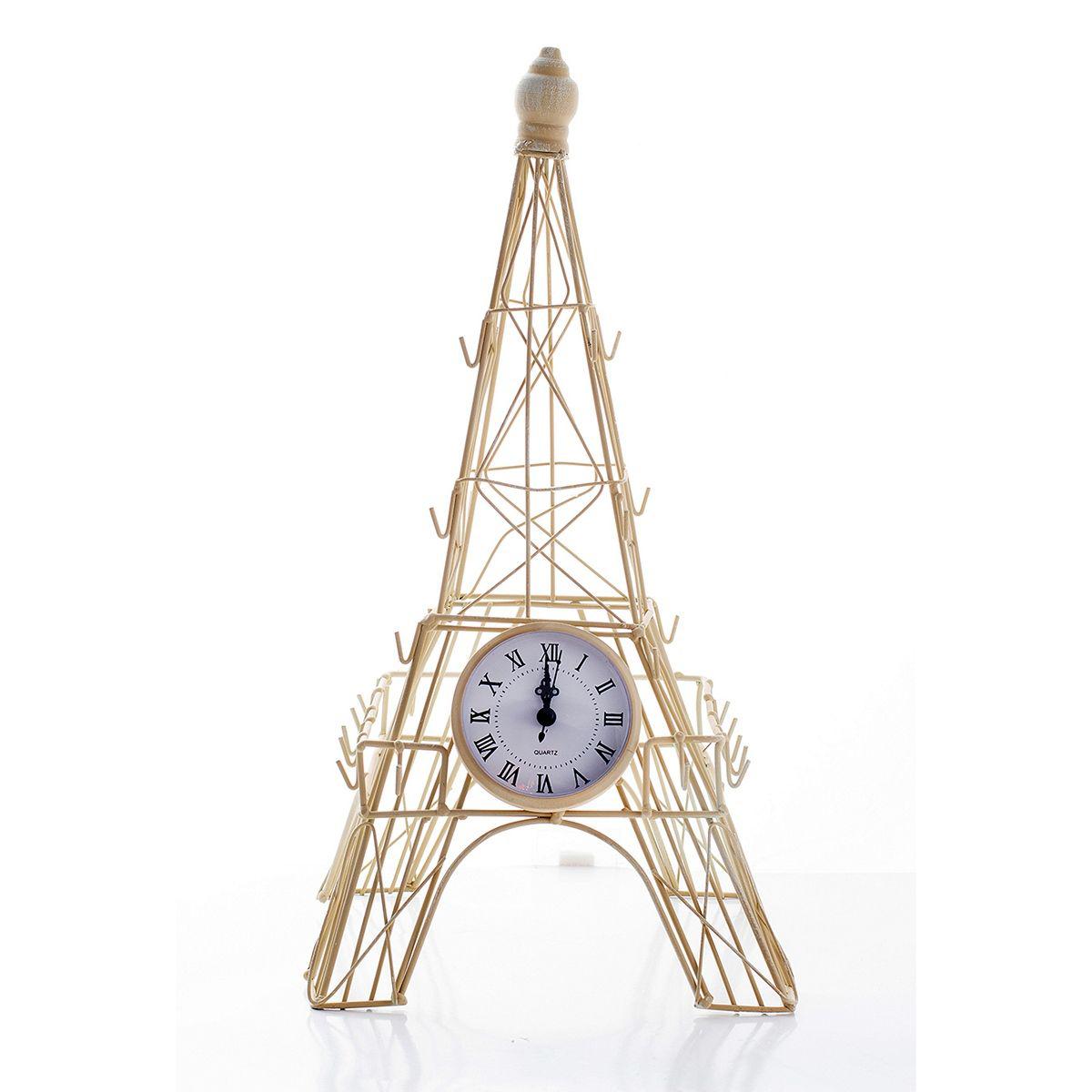 Часы настольные Русские Подарки Эйфелева башня, 23 х 23 х 45 см. 60601