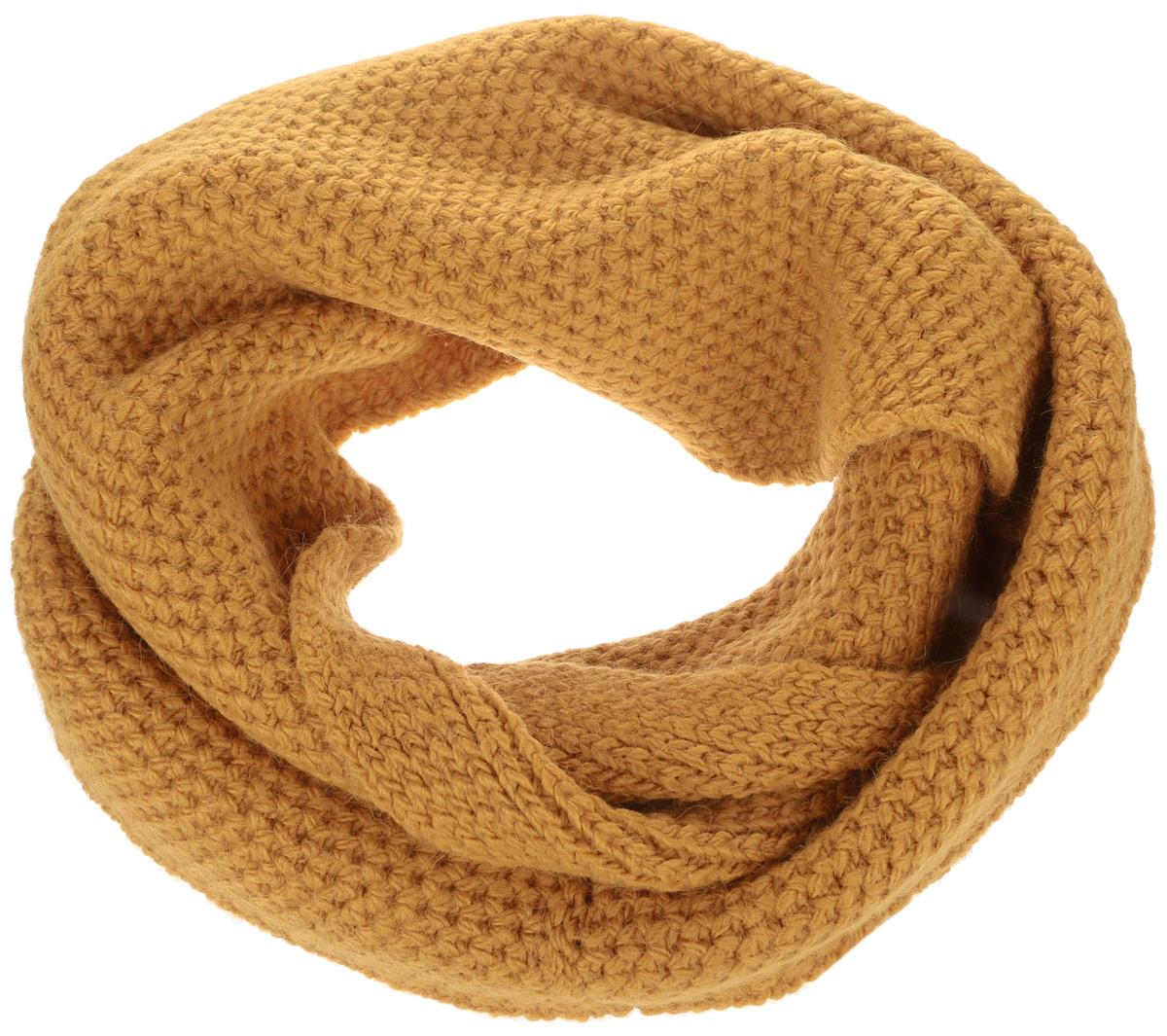 Снуд-хомут женский Baon, цвет: оранжевый. B333. Размер 29 см х 154 смB333Стильный снуд-хомут Baon, выполненный из акрила с добавлением полиамида и эластана, создан подчеркнуть ваш неординарный вкус и согреть вас в прохладное время года. Снуд - это объемный шарф, связанный по кругу, который можно носить не только на шее, но и как головной убор.Этот модный аксессуар гармонично дополнит образ современной женщины, следящей за своим имиджем и стремящейся всегда оставаться стильной и элегантной.