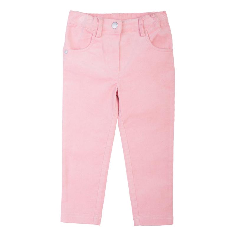 Брюки для девочки PlayToday Baby, цвет: розовый. 368011. Размер 80368011Стильные брюки для девочки выполнены из вельвета. Модель зауженного кроя застегивается на кнопку, пояс на резинке имеет шлевки для ремня. Изделие спереди дополнено двумя втачными карманами. Яркий цвет модели позволяет создавать стильные образы.