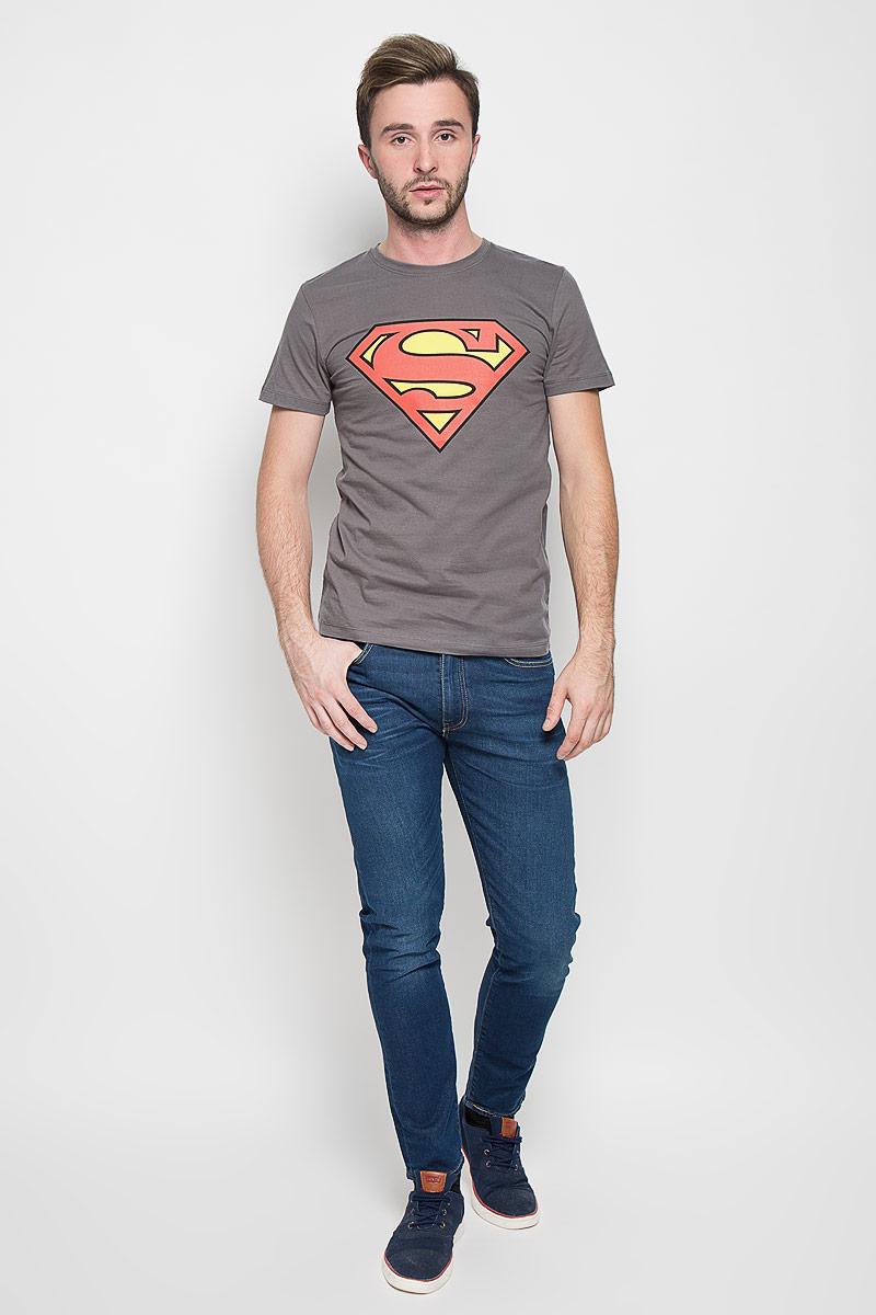 Футболка мужская RHS Superman, цвет: серый. 44671. Размер XL (52) футболка мужская rhs batman vs superman цвет сиреневый 42919 размер xl 52