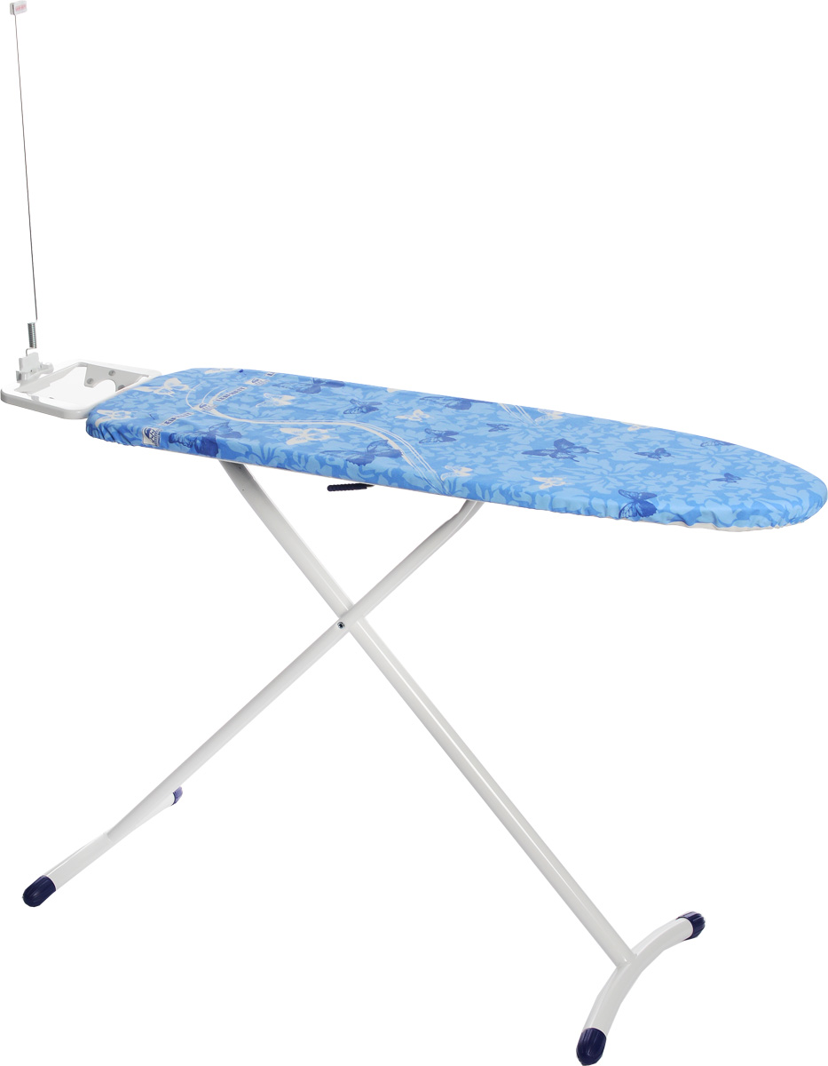 Гладильная доска Leifheit Air Board Solid M, 120 х 38 см72563-9Гладильная доска Leifheit Air Board Solid M станет незаменимой помощницей в глажении белья. Очень существенная особенность - это ее легкий вес, доска на 25% легче аналогичных досок благодаря гладильной поверхности из вспененного пластика. Чехол из хлопка с поверхностью Thermo Reflect позволяет гладить на 33% быстрее. Благодаря эксклюзивной технологии отражающей поверхности белье гладится сразу с двух сторон. Форма доски идеальна для глажения любого текстиля, а также рубашек и блузок.Доска очень устойчива. Металлические ножки снабжены пластиковыми вставками. Новый механизм регулировки высоты обеспечивает большую безопасность и устойчивость. Система выравнивания пола - для перепада высоты до 1 см. Доска снабжена фиксированной подставкой под утюг с держателем для провода.Регулировка по высоте: 75-98 см.Размер доски: 120 х 38 см.