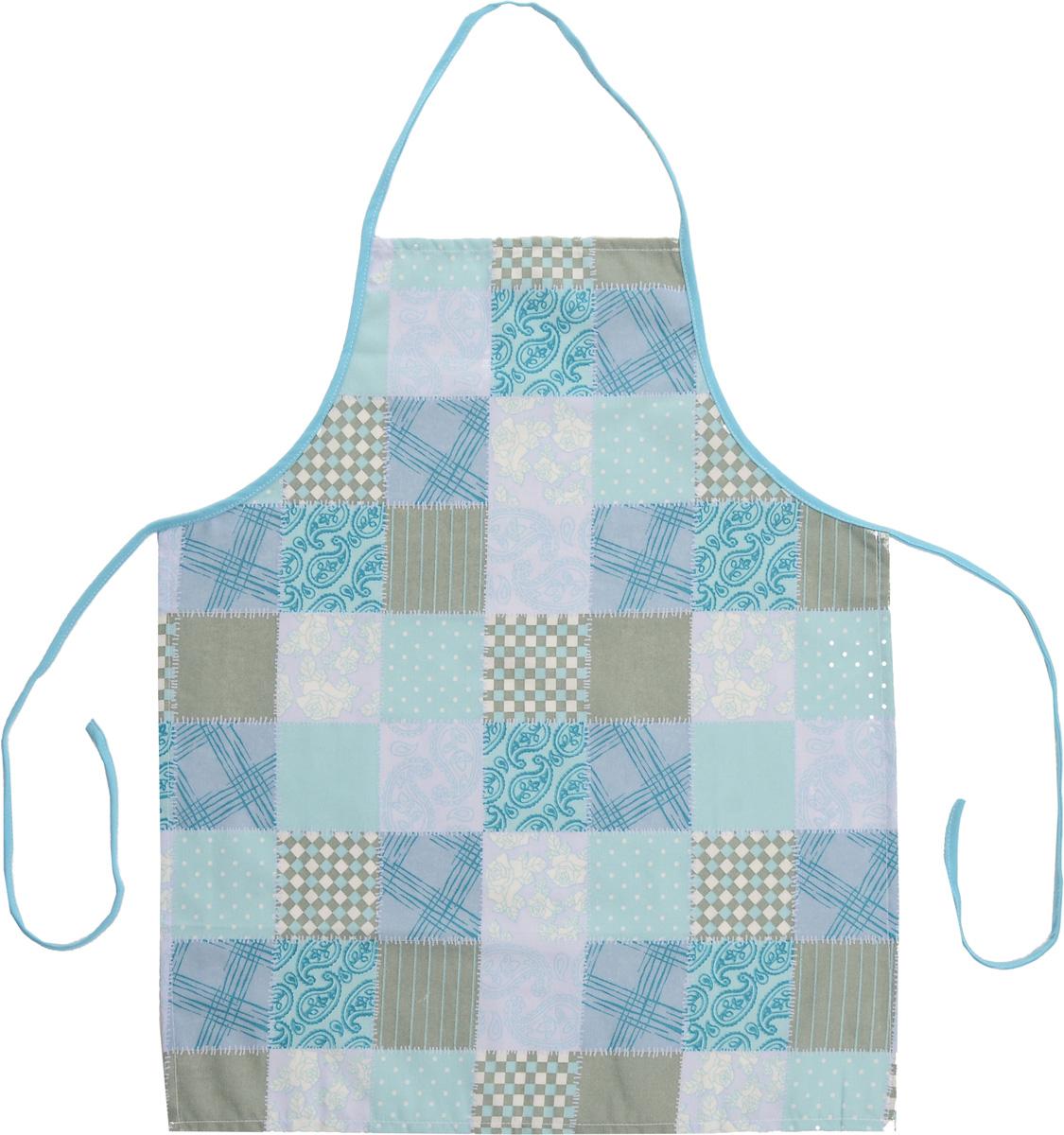 """Фартук Bonita """"Голубика"""" изготовлен из натурального хлопка с покрытием, которое отталкивает грязь, воду и масло. Фартук оснащен завязками. Имеет универсальный размер. Декорирован красивым узором, который понравится любой хозяйке.  Такой фартук поможет вам избежать попадания еды на одежду во время приготовления пищи.  Кухня - это сердце дома, где вся семья собирается вместе. Она бережно хранит и поддерживает жизнь домашнего очага, который нас согревает. Именно поэтому так важно создать здесь атмосферу, которая не только возбудит аппетит, но и наполнит жизненной энергией.  С текстилем """"Bonita"""" открывается возможность не только каждый день дарить кухне новый облик, но и создавать настоящие кулинарные шедевры. """"Bonita"""" станет незаменимым помощником и идейным вдохновителем, создающим вкусное настроение на вашей кухне."""