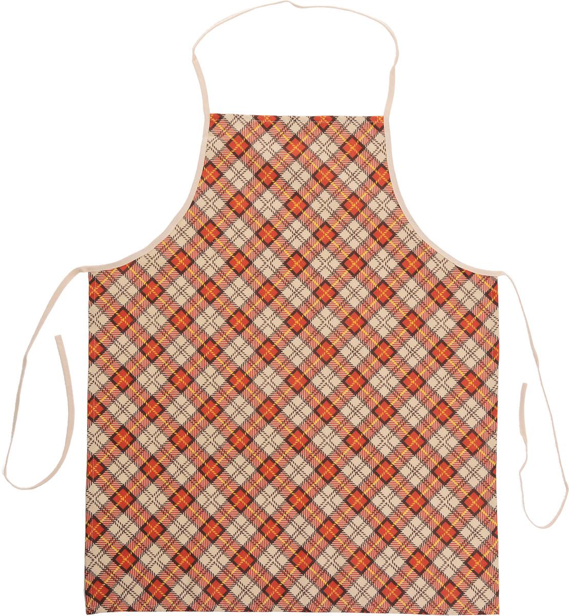 """Фартук Bonita """"Принц Уэльский"""" изготовлен из натурального хлопка с покрытием, которое отталкивает грязь, воду и масло. Фартук оснащен завязками. Имеет универсальный размер. Декорирован красивым принтом в клетку, который понравится любой хозяйке.  Такой фартук поможет вам избежать попадания еды на одежду во время приготовления пищи.  Кухня - это сердце дома, где вся семья собирается вместе. Она бережно хранит и поддерживает жизнь домашнего очага, который нас согревает. Именно поэтому так важно создать здесь атмосферу, которая не только возбудит аппетит, но и наполнит жизненной энергией.  С текстилем """"Bonita"""" открывается возможность не только каждый день дарить кухне новый облик, но и создавать настоящие кулинарные шедевры. """"Bonita"""" станет незаменимым помощником и идейным вдохновителем, создающим вкусное настроение на вашей кухне."""