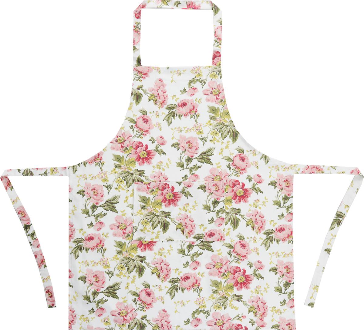 """Фартук Bonita """"Английская коллекция"""" изготовлен из натурального хлопка и оформлен красивым цветочным рисунком. Фартук оснащен завязками и открытым карманом для мелочей. Имеет универсальный размер.  Такой фартук поможет вам избежать попадания еды на одежду во время приготовления пищи.  Кухня - это сердце дома, где вся семья собирается вместе. Она бережно хранит и поддерживает жизнь домашнего очага, который нас согревает. Именно поэтому так важно создать здесь атмосферу, которая не только возбудит аппетит, но и наполнит жизненной энергией.  С текстилем """"Bonita"""" открывается возможность не только каждый день дарить кухне новый облик, но и создавать настоящие кулинарные шедевры. """"Bonita"""" станет незаменимым помощником и идейным вдохновителем, создающим вкусное настроение на вашей кухне."""