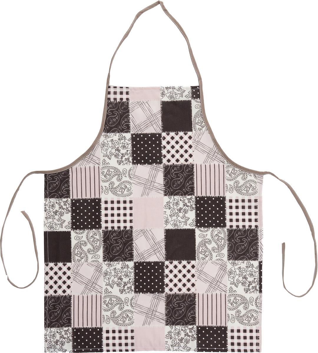 """Фартук Bonita """"Трюфель"""" изготовлен из натурального хлопка с  покрытием, которое отталкивает грязь, воду и масло. Фартук оснащен  завязками. Имеет универсальный размер. Декорирован красивым  узором, который понравится любой хозяйке.  Фартук поможет вам  избежать попадания еды на одежду во время приготовления пищи.   Кухня - это сердце дома, где вся семья собирается вместе. Она бережно  хранит и поддерживает жизнь домашнего очага, который нас согревает.  Именно поэтому так важно создать здесь атмосферу, которая не только  возбудит аппетит, но и наполнит жизненной энергией.  С текстилем """"Bonita"""" открывается возможность не только каждый день  дарить кухне новый облик, но и создавать настоящие кулинарные  шедевры. """"Bonita"""" станет незаменимым помощником и идейным  вдохновителем, создающим вкусное настроение на вашей кухне."""