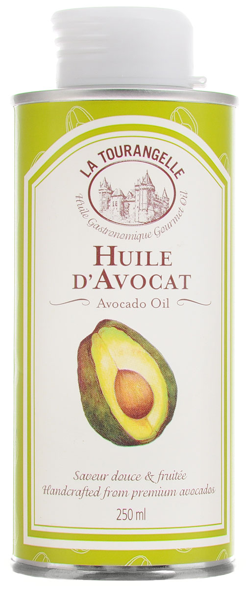 La Tourangelle Avocado Oil масло авокадо, 250 мл3245270000726La Tourangelle Avocado Oil - смесь нерафинированного масла первого холодного отжима и рафинированного масла. Масло изготовлено вручную из свежих высококачественных плодов авокадо. Имеет нежный изумрудный цвет и содержит большое количество мононенасыщенных жиров. Придаст восхитительный аромат авокадо любым блюдам. Масло авокадо можно применять точно так же как и оливковое, однако, более высокая температура дымления делает область его применения на кухне более обширной. Просто заправить салат или приготовить на его основе салатную заправку, сбрызнуть кусочки фруктов (в особенности грейпфрута и дыни). Масло авокадо подойдет для всего – для тепловой обработки пищи, выпекания, заправки, обмакивания в него разнообразных продуктов. Масло можно подогревать до средних и высоких температур. Продукт содержит олеиновую кислоту, которая способствует снижению уровня холестерина в крови.Масла для здорового питания: мнение диетолога. Статья OZON Гид