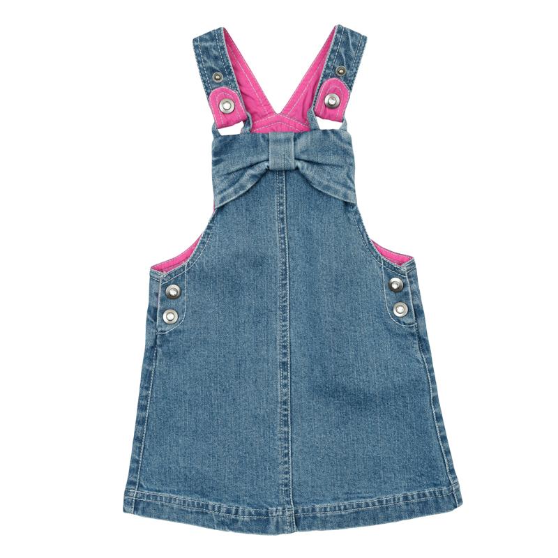 Сарафан для девочки PlayToday Baby, цвет: синий деним. 368065. Размер 74 комплект для девочки bibelo baby футболка бриджи цвет малиновый белый светло зеленый b800 6 размер 74
