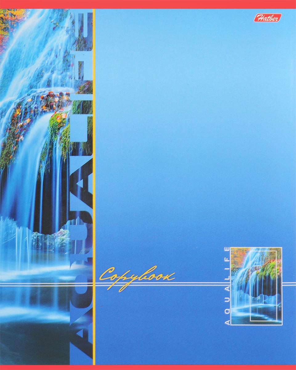 Hatber Тетрадь Аквалайф 80 листов в линейку цвет голубой80Т5В2_13737Тетрадь Hatber Аквалайф предназначена для объемных записей и незаменима для старшеклассников и студентов.Обложка, выполненная из плотного картона, позволит сохранить тетрадь в аккуратном состоянии на протяжении всего времени использования. Лицевая сторона оформлена красочным изображением водопада.Внутренний блок тетради, соединенный двумя металлическими скрепками, состоит из 80 листов белой бумаги в голубую линейку с полями.