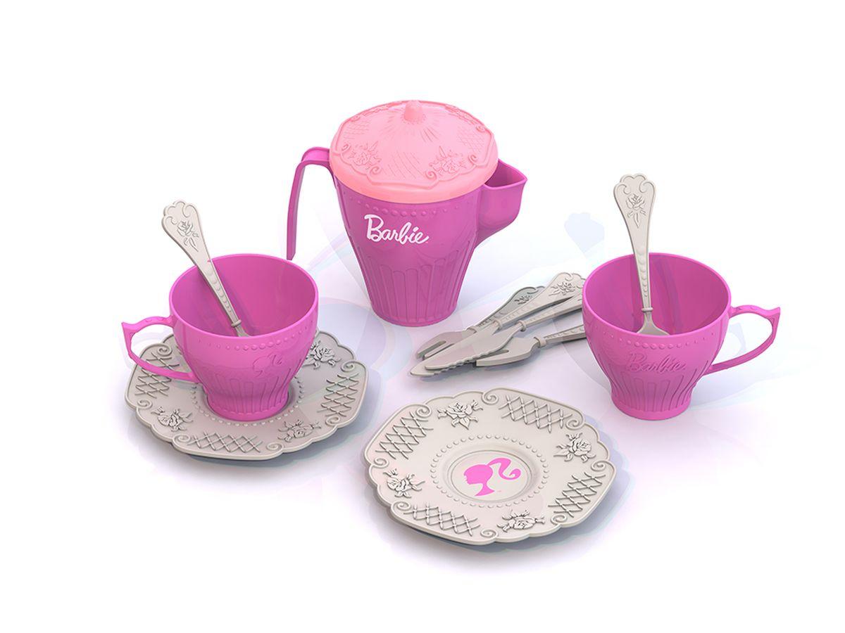 Нордпласт Набор детской посуды Barbie 12 предметов нордпласт набор кухонной посудки 15 предм барби нордпласт
