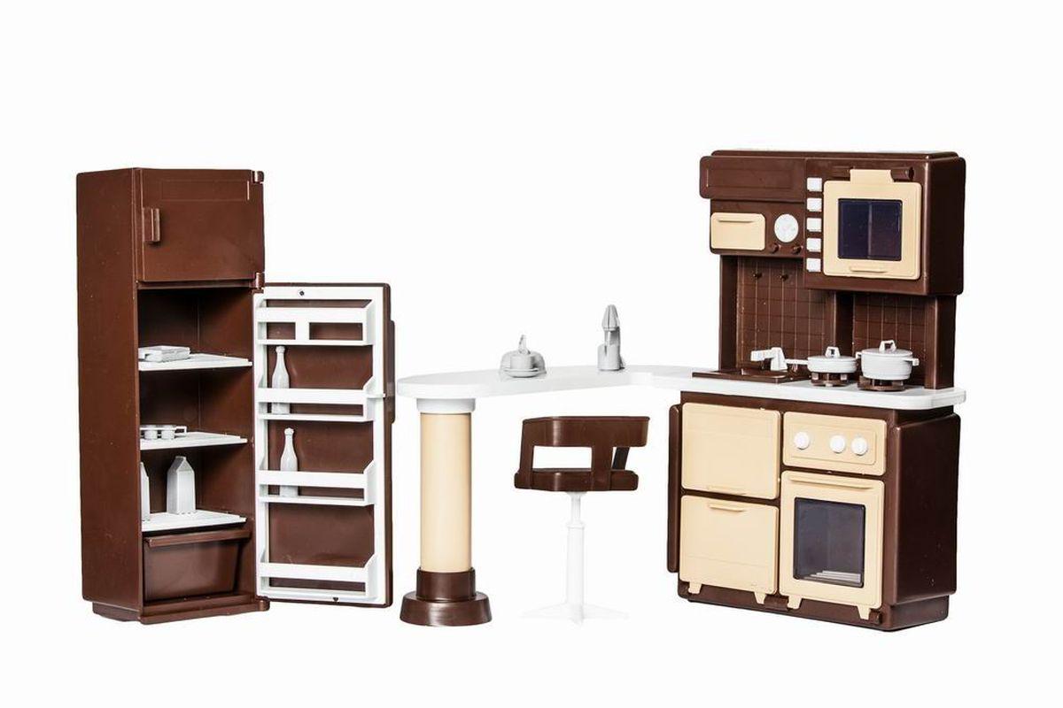Огонек Набор мебели для кукол Коллекция Кухня мебель для кукольного домика купить недорого