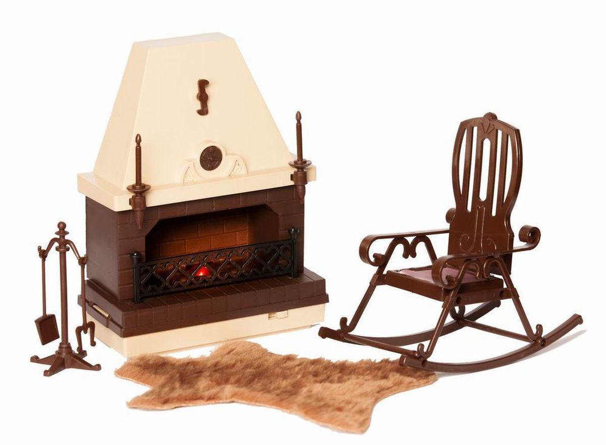 Огонек Набор мебели для кукол Коллекция для каминной комнаты огонек набор мебели для кукол коллекция для столовой