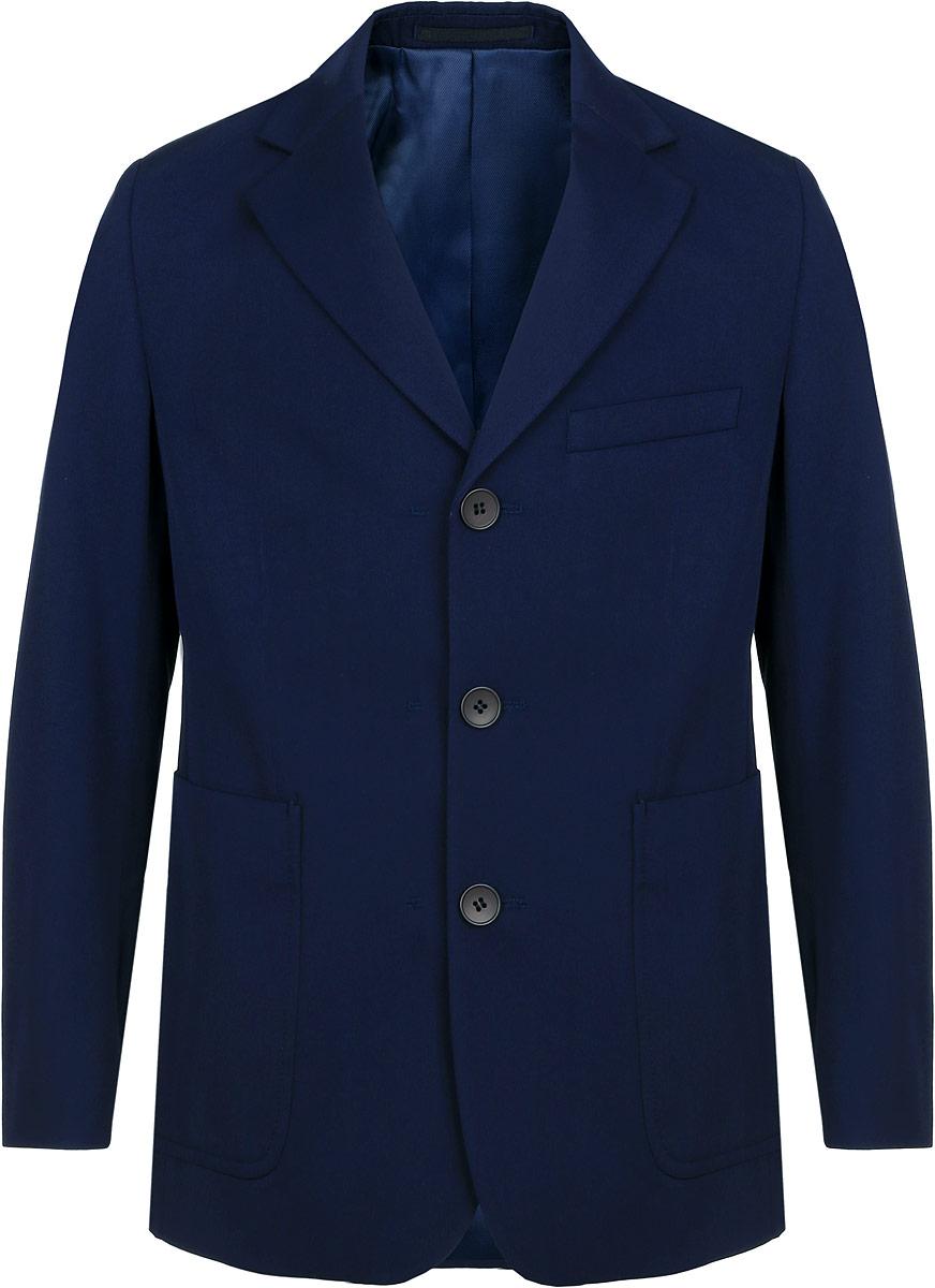 Пиджак для мальчика BTC, цвет: темно-синий. 12.017855. Размер 46-158 брюки для девочки btc цвет черный 12 017900 размер 40 158