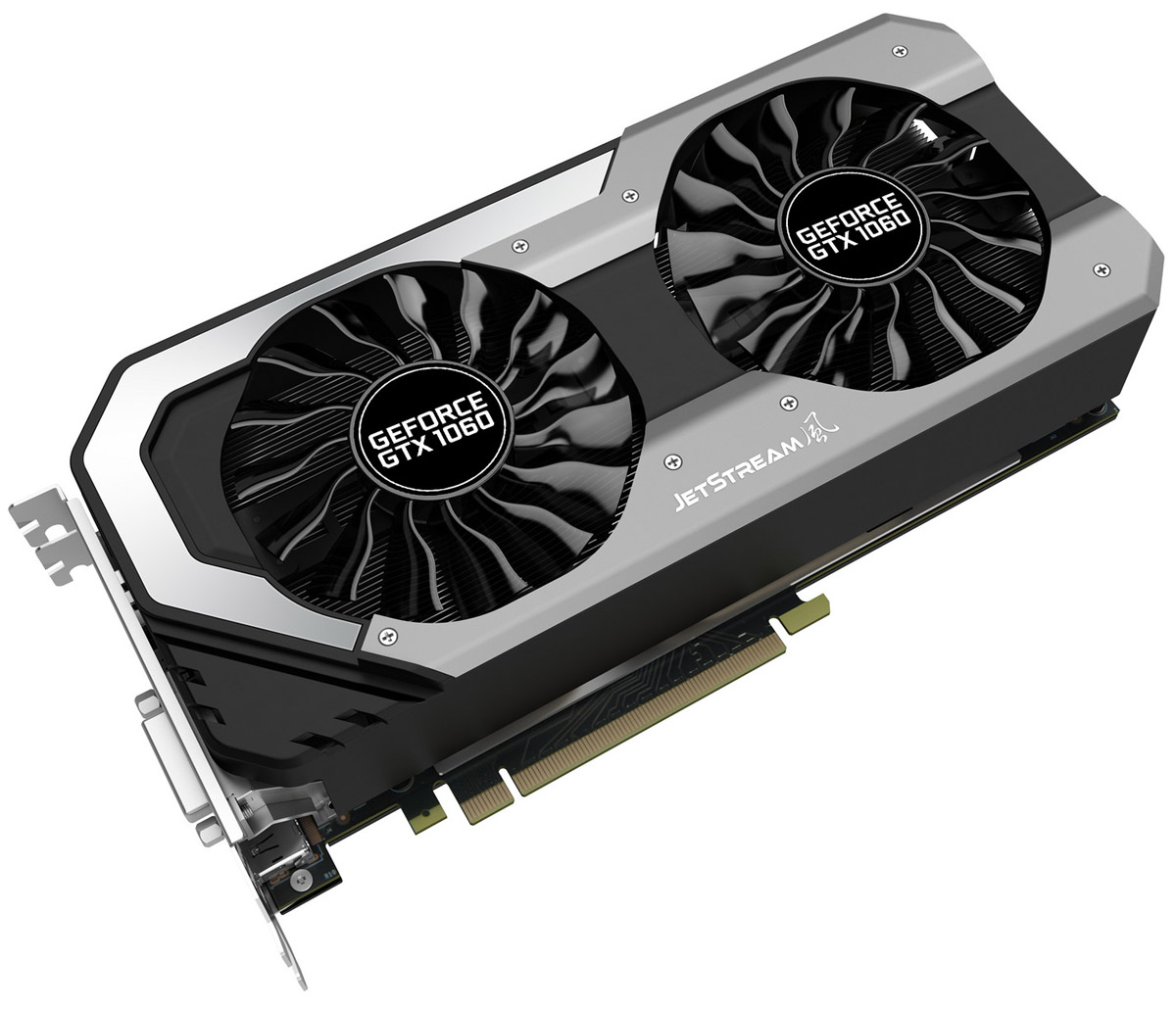 Palit GeForce GTX 1060 Super JetStream 6GB видеокартаNE51060S15J9-1060JВидеокарта серии Palit GeForce GTX 1060 Super JetStream 6GB отличается продвинутой системой охлаждения и оптимизированной конструкцией для достижения максимальной игровой производительности. Архитектура нового поколения NVIDIA Pascal с высокой энергоэффективностью и поддержкой современных игровых технологий гарантируют пользователям видеокарты Palit GeForce GTX 1060 Super JetStream производительность ультрасовременного уровня и уникальный игровой опыт!Видеокарта оснащена RGB-подсветкой. Ее цвет может изменяться в зависимости от температуры видеокарты, что позволяет определить температуру и нагрузку по внешнему виду. Поддержка 16.8 миллионов цветов предоставляет возможность индивидуальной настройки каждому пользователю в соответствии с личными предпочтениями.Две версии BIOS с автоматической активацией защитного механизма обеспечивают нормальное функционирование видеокарты при системном сбое или некорректной прошивке.Конструкция крепёжной панели с ячейками в виде сот увеличивает отводимый от графического процессора воздушный поток на 15%, что улучшает общую эффективность системы охлаждения.Конструкция с двумя вентиляторами удваивает производительность системы охлаждения, а пара умных вентиляторов диаметром 90 мм эффективно отводит тепло от горячих точек видеокарты. Основанные на технологиях реактивных двигателей, вентиляторы TurboFan Blade увеличивают мощность кулера, генерируя мощный воздушный поток и высокое давление.Наслаждайтесь тишиной во время работы или просмотра видео. Вентиляторы видеокарты включаются только при увеличении нагрузки, например, в играх, если температура графического процессора карты превышает 50 градусов.Благодаря наличию разъемов DisplayPort и HDMI, видеокарты серии Palit позволяют подключать сразу два монитора с разрешением 4K и наслаждаться просто невероятным качеством изображения.