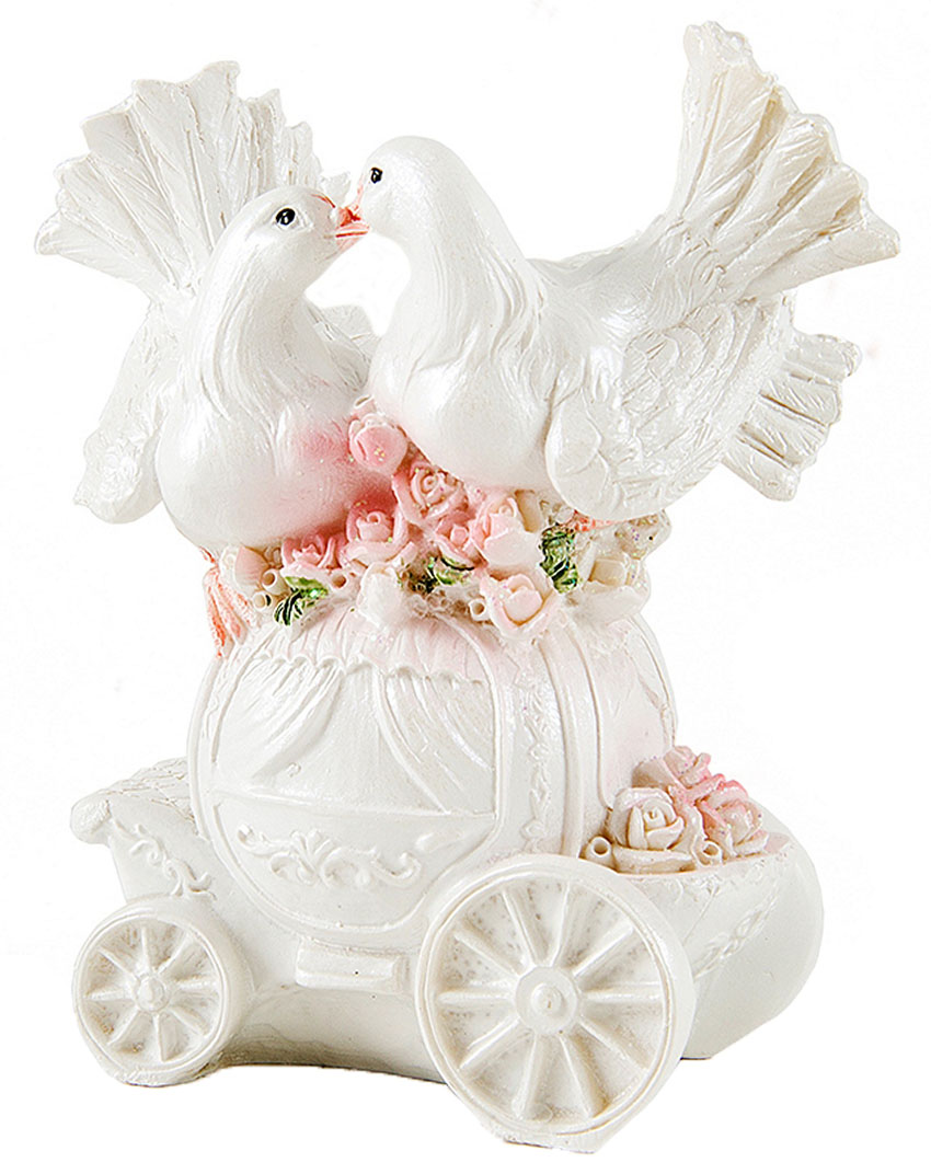 Фигурка декоративная Win Max Свадебные голуби, 10 х 5 х 12 см127842Декоративная фигурка Win Max Свадебные голуби изготовлена из полистоуна. Изделие представляет собой фигурку двух голубей. Такая фигурка идеально впишется в свадебный интерьер в качестве украшения и будет радовать вас своим видом в самый важный день в вашей жизни.
