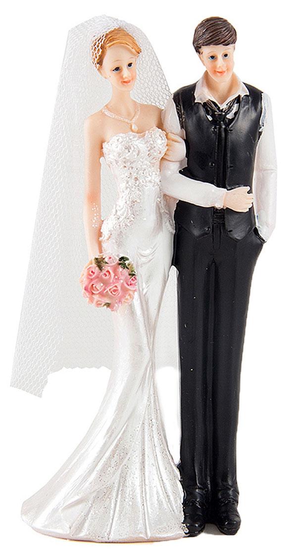 Фигурка декоративная Win Max Свадебная, 7 х 6 х 16 см127848Декоративная фигурка Win Max Свадебная изготовлена из полистоуна. Изделие представляет собой фигурку жениха и невесты. Такая фигурка идеально впишется в свадебный интерьер в качестве украшения и будет радовать вас своим видом в самый важный день в вашей жизни.