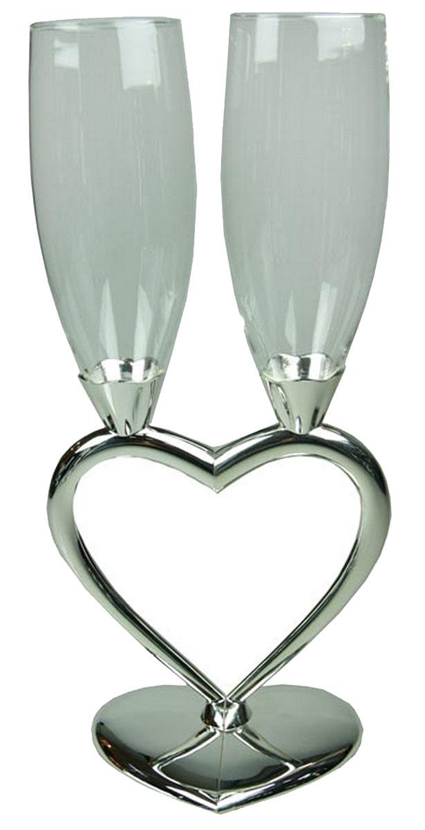 """Набор Win Max """"Влюбленная пара"""" состоит из бокалов, выполненных из  высококачественного стекла.  Изделия отличаются долговечностью и прочностью.   Высота бокала: 25 см."""
