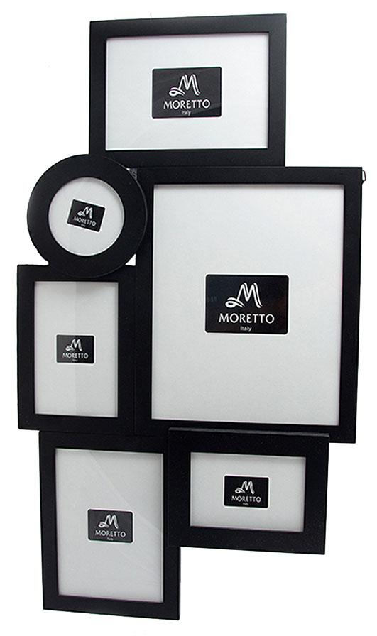 Фоторамка-коллаж Moretto, на 6 фото. 238006238006Фоторамка-коллаж Moretto - прекрасный способ красиво оформить ваши фотографии. Фоторамка выполнена из дерева и защищена стеклом. Фоторамка-коллаж представляет собой шесть фоторамок для фото, оригинально соединенных между собой. Такая фоторамка поможет сохранить в памяти самые яркие моменты вашей жизни, а стильный дизайн сделает ее прекрасным дополнением интерьера комнаты.