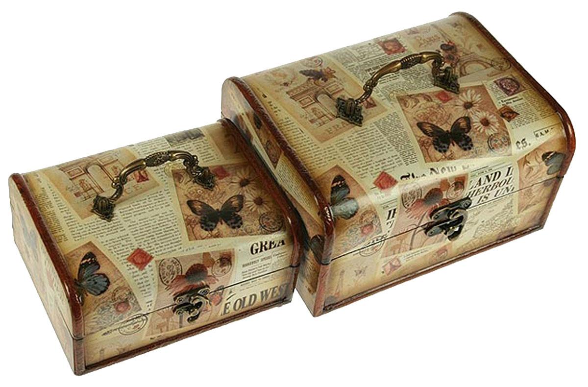 Набор сундучков Roura Decoracion, 22 х 16 х 12 см, 2 шт. 3465834658Набор сундучков Roura Decoracion станет полезным и особо желанным подарком для женщин, так как в них можно хранить что угодно, будь то инструменты для рукоделия, украшения или просто маленькие женские секреты.Набор состоит из двух предметов. Правила ухода: регулярно удалять пыль сухой, мягкой тканью.