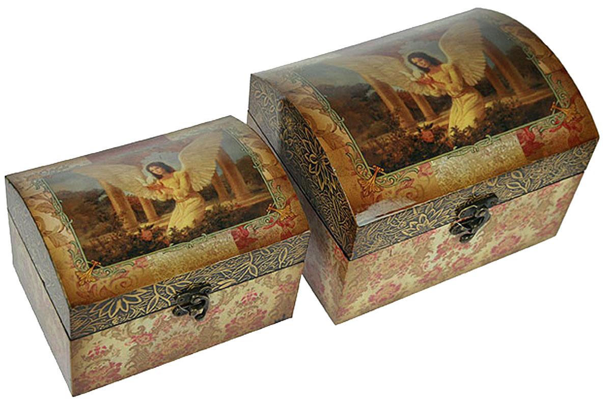 Набор сундучков Roura Decoracion, 22 х 17 х 16 см, 2 шт. 3471934719Набор сундучков Roura Decoracion станет полезным и особо желанным подарком для женщин, так как в них можно хранить что угодно, будь то инструменты для рукоделия, украшения или просто маленькие женские секреты..Набор состоит из двух предметов. Правила ухода: регулярно удалять пыль сухой, мягкой тканью.
