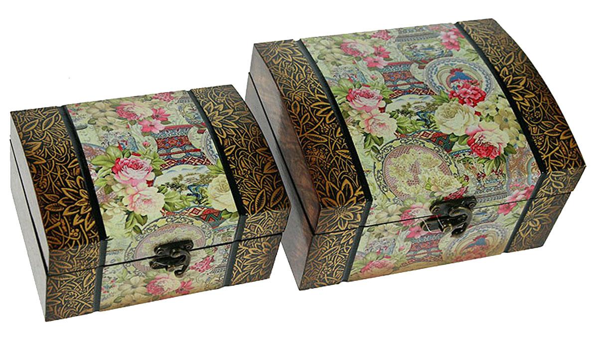 Набор сундучков Roura Decoracion, 21 х 17 х 11 см, 2 шт. 34721 набор сундучков roura decoracion 27 х 14 х 10 см 2 шт 34554