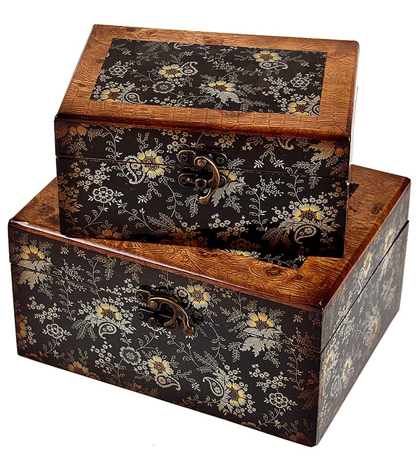 Набор сундучков Roura Decoracion, 20 х 17 х 10 см, 2 шт. 3472534725Набор сундучков Roura Decoracion, станет полезным и особо желанным подарком для женщин, так как в них можно хранить что угодно, будь то инструменты для рукоделия, украшения или просто маленькие женские секреты.Набор состоит из двух предметов. Правила ухода: регулярно удалять пыль сухой, мягкой тканью.