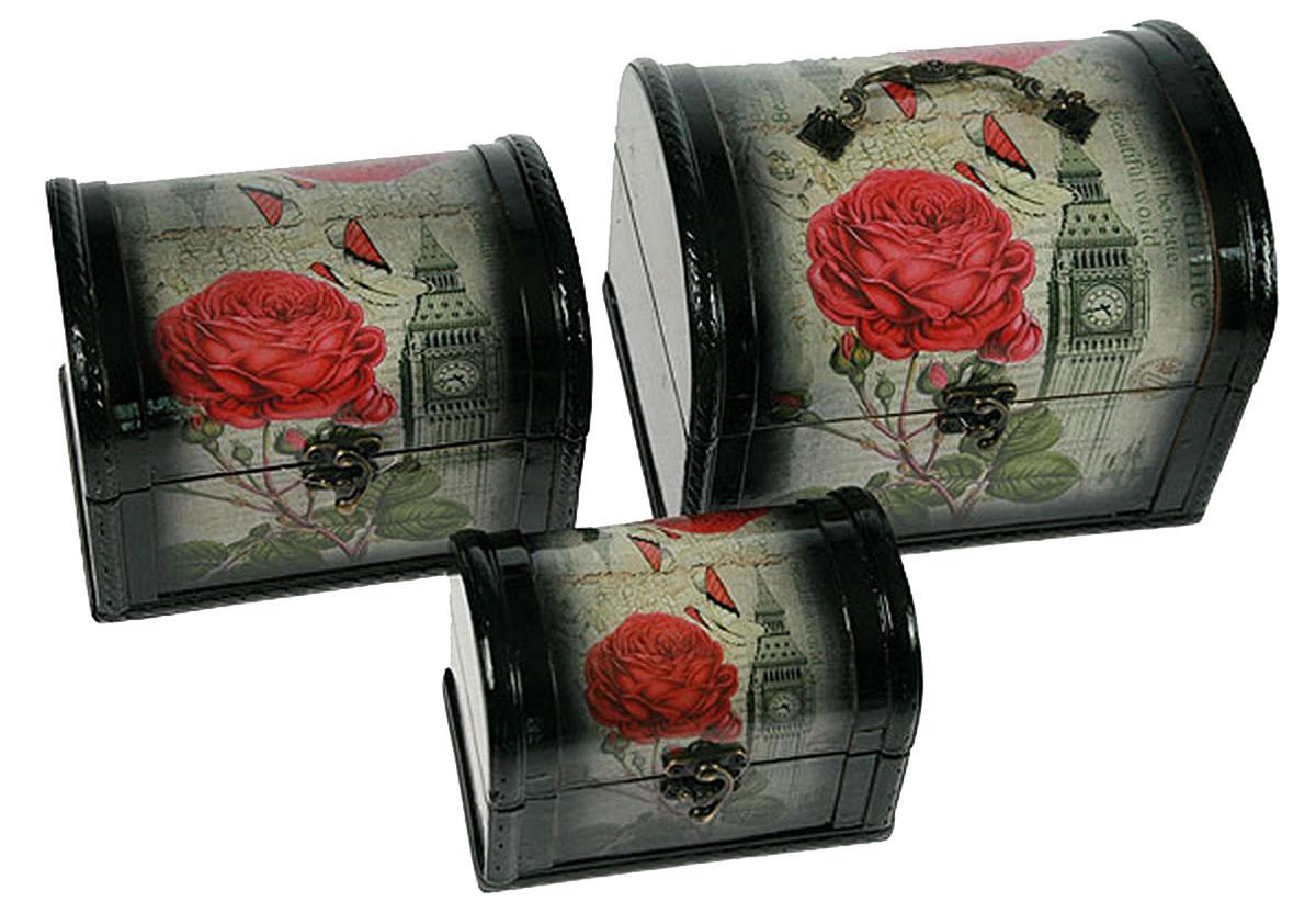 Набор сундучков Roura Decoracion, 3 шт. 3472634726Набор сундучков Roura Decoracion станет полезным и особо желанным подарком для женщин, так как в них можно хранить что угодно, будь то инструменты для рукоделия, украшения или просто маленькие женские секреты.. Набор состоит из трех предметов.Правила ухода: регулярно удалять пыль сухой, мягкой тканью.