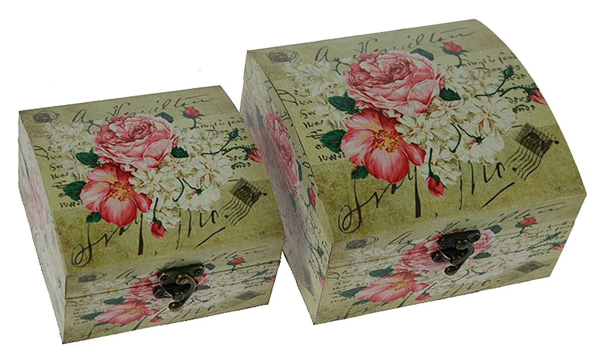 Набор сундучков Roura Decoracion, 2 шт, 17 х 18 х 10 см. 3472734727Набор сундучков Roura Decoracion станет полезным и особо желанным подарком для женщин, так как в них можно хранить что угодно, будь то инструменты для рукоделия, украшения или просто маленькие женские секреты.. Набор состоит из двух предметов.Правила ухода: регулярно удалять пыль сухой, мягкой тканью.