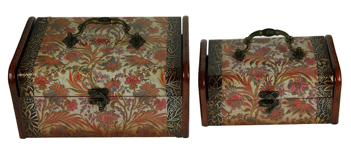 Набор сундучков Roura Decoracion, 24 х 17 х 11 см, 2 шт. 34737 набор сундучков roura decoracion 27 х 14 х 10 см 2 шт 34554