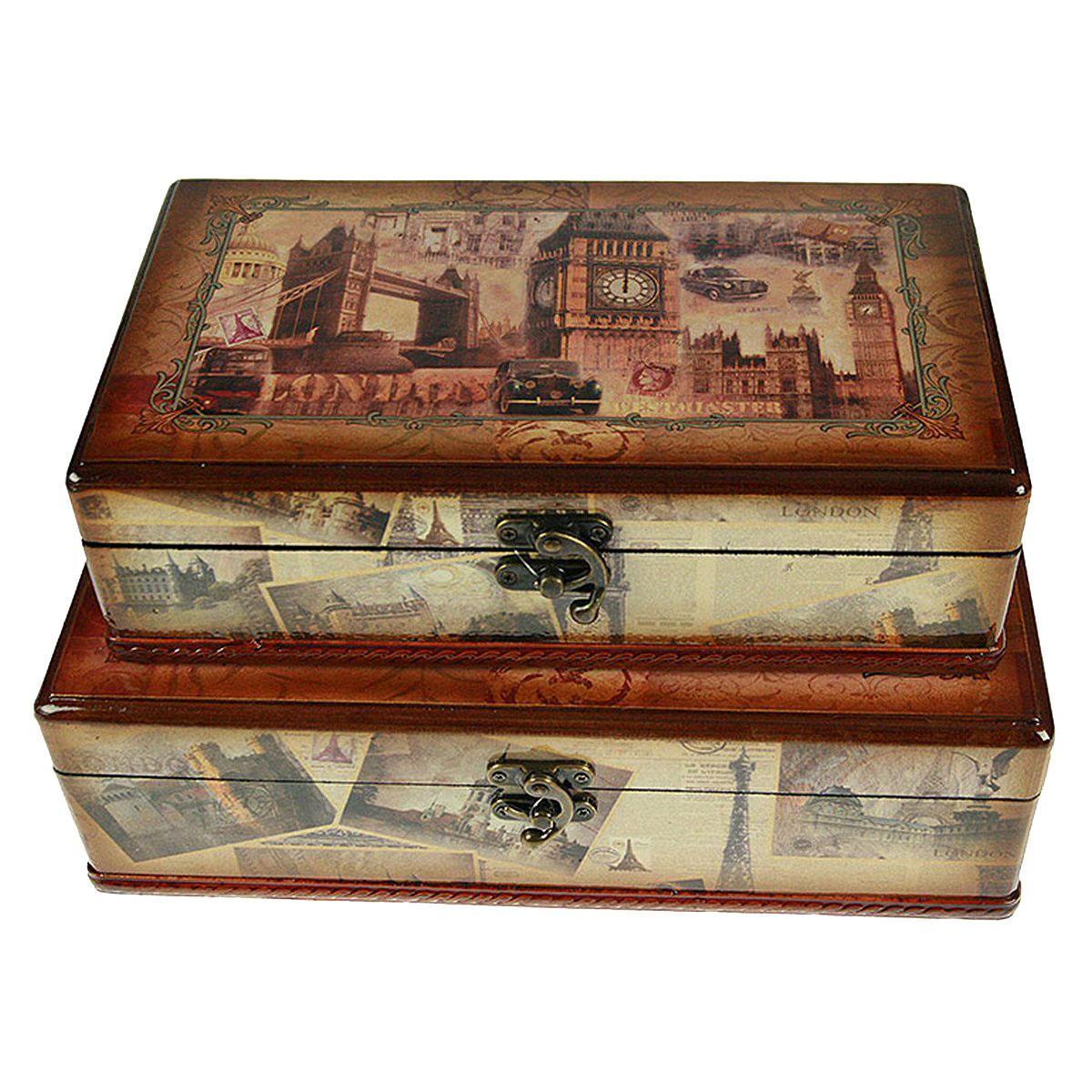 Набор сундучков Roura Decoracion, 35 х 22 х 11 см, 2 шт. 34746 набор сундучков roura decoracion 27 х 14 х 10 см 2 шт 34554