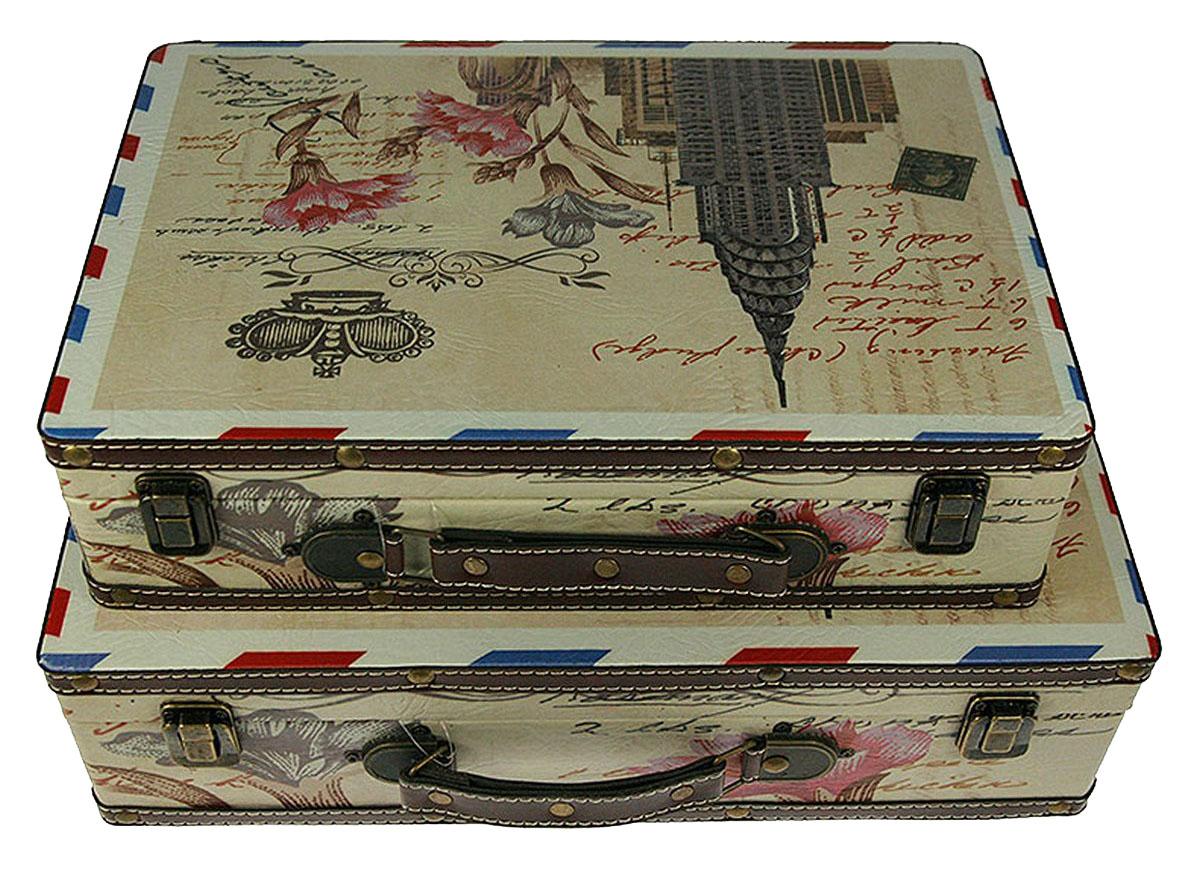 Набор сундучков Roura Decoracion, 2 шт. 3475234752Набор сундучков Roura Decoracion станет полезным и особо желанным подарком для женщин, так как в них можно хранить что угодно, будь то инструменты для рукоделия, украшения или просто маленькие женские секреты. Набор состоит из двух предметов.Правила ухода: регулярно удалять пыль сухой, мягкой тканью.