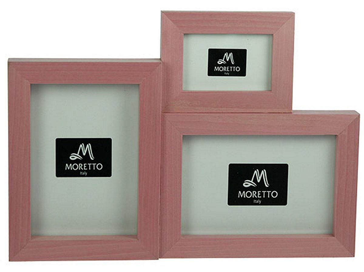 """Набор фоторамок """"Moretto"""" - прекрасный способ красиво оформить ваши фотографии.  Фоторамки выполнены из дерева и защищены стеклом, предназначены для трех фотографий.   Такая фоторамка поможет сохранить в памяти самые яркие моменты вашей жизни, а стильный  дизайн сделает ее прекрасным дополнением интерьера комнаты."""