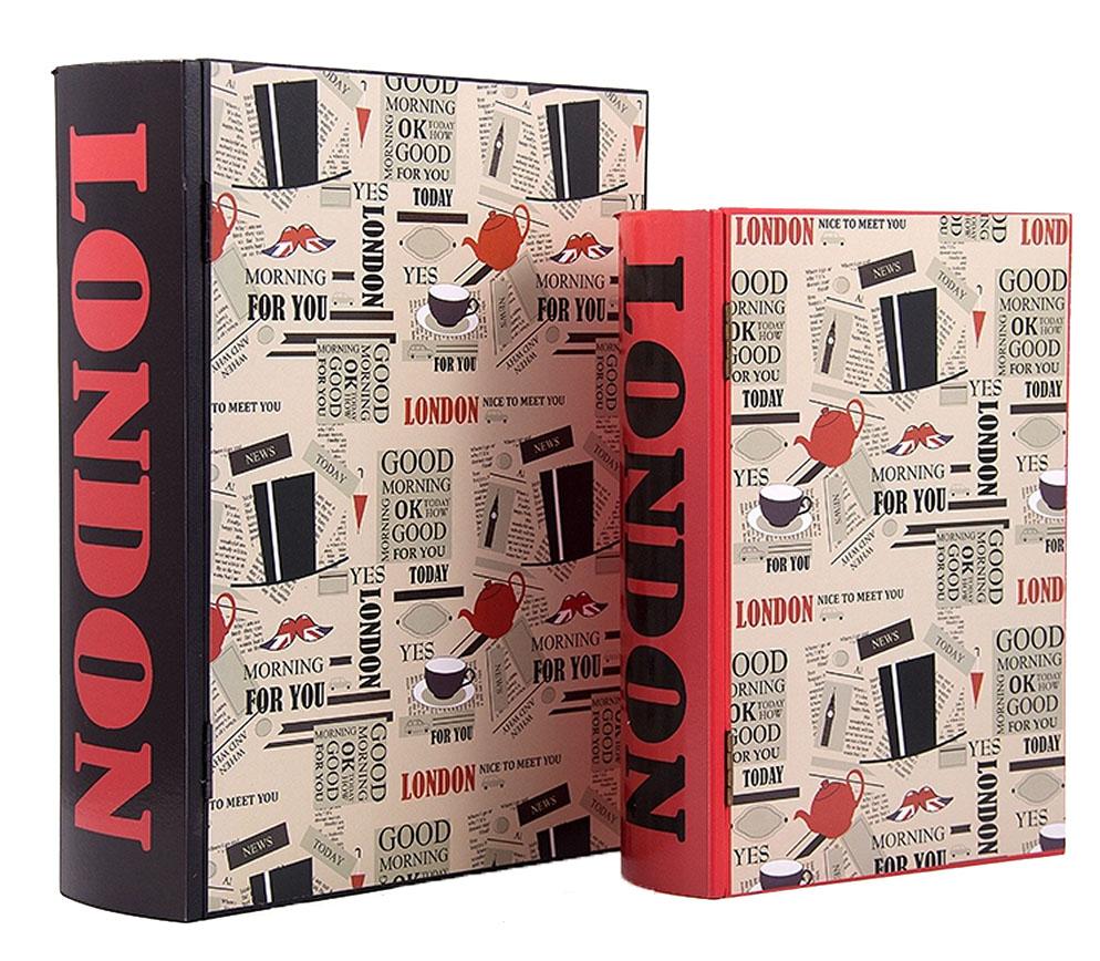Набор шкатулок-фолиантов Win Max Лондон, 2 шт, 27 х 21 х 7 см. 38717 шкатулки trousselier музыкальная шкатулка 1 отделение fairy parma