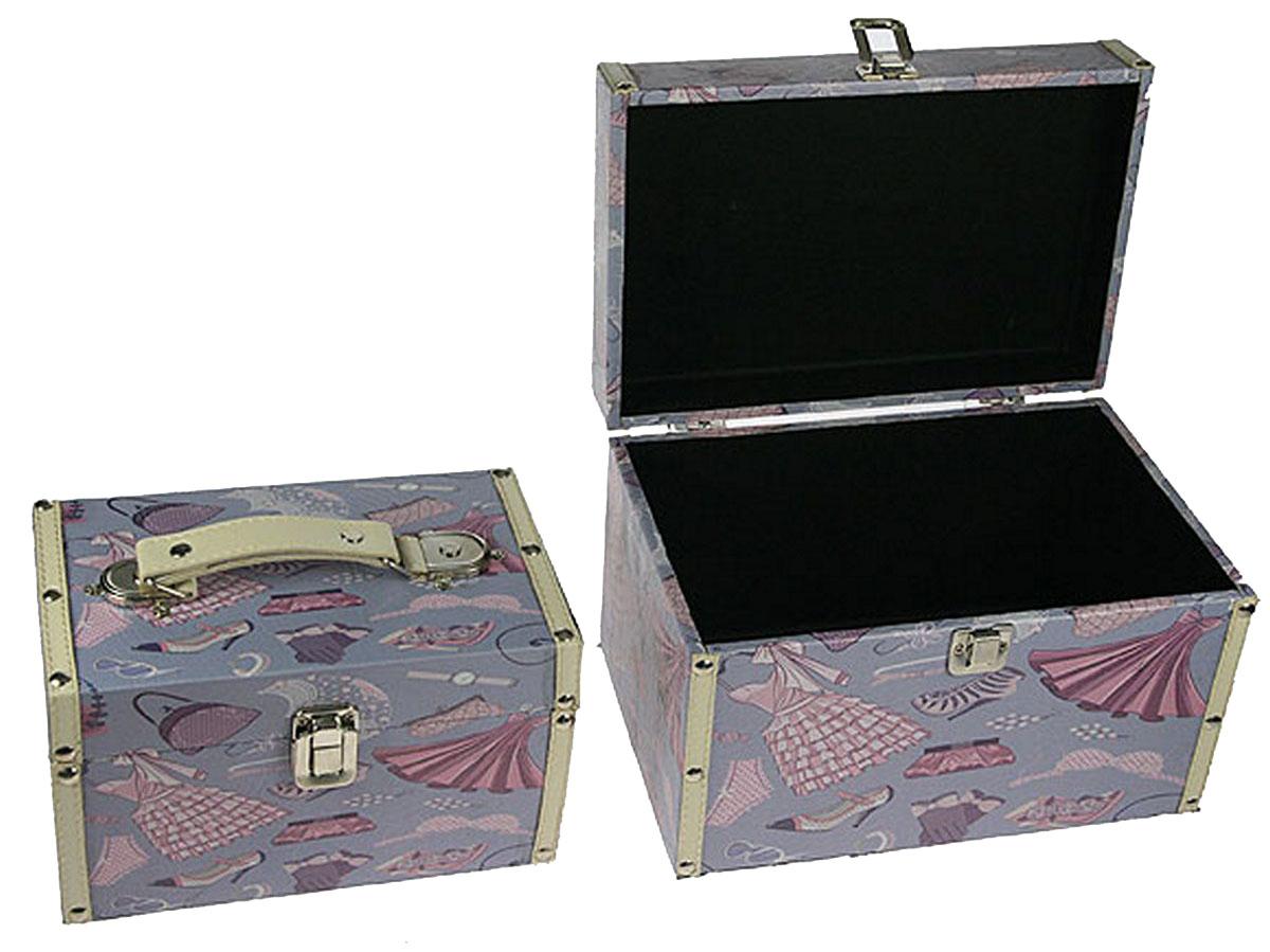 Набор сундучков Win Max, 26 х 17 х 17 см, 2 шт. 8360183601Набор Win Max состоит из двух оригинальных сундучков разных размеров. Каждый сундучок выполнен из МДФ и искусственной кожи. Сундучки надежно закрываются на металлический замок. Набор сундучков Win Max, непременно, понравится всем любителям изысканных вещей. В них можно хранить памятные предметы, документы или любые другие мелочи.Сочетание оригинального дизайна и функциональности делает набор сундучков Win Max практичным и стильным подарком и предметом гордости его обладателя.