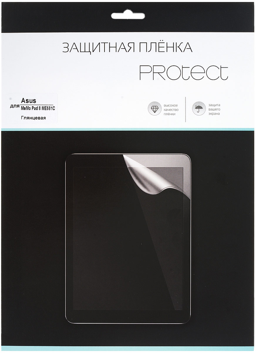 Protect защитная пленка для Asus MeMO Pad 8 ME581C, глянцевая black touchscreen panel glass digitizer lens sensor replacement parts for asus memo pad 10 me103k 10 1 tablet